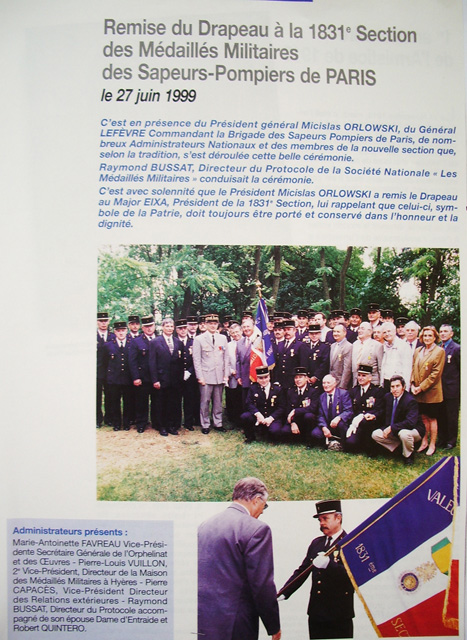 1999 remise drapeau medaill
